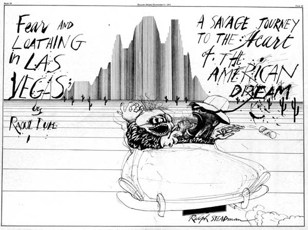 Fear & Loathing, the original spread, Ralph Steadman Art Collection