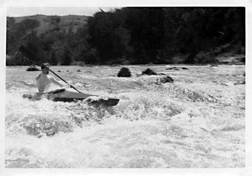 Kayaking the Murrumbidgee, Canberra, 1960s