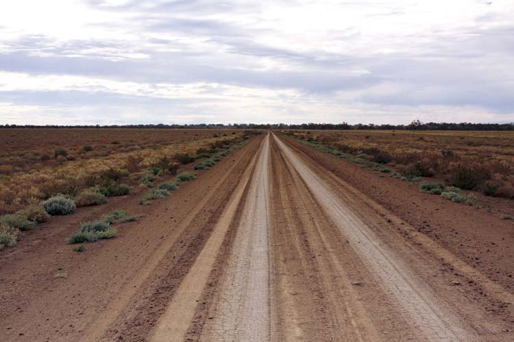 Menindee to Wilcannia Road after Rain, 2010