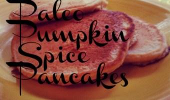 Easy Pumpkin Spice Paleo Pancakes