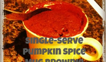 Pumpkin Spice Mug Brownie Cake
