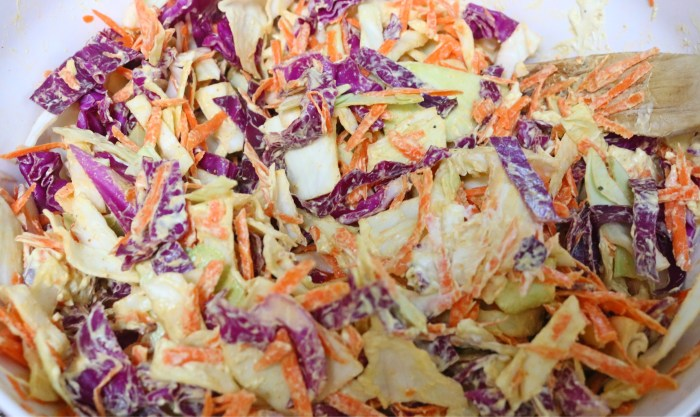 easy curried cranberry coleslaw