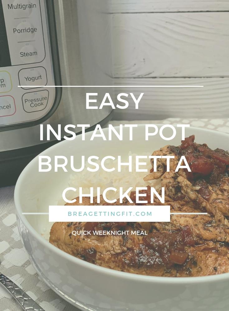 bruschetta chicken in bowl by Instant Pot