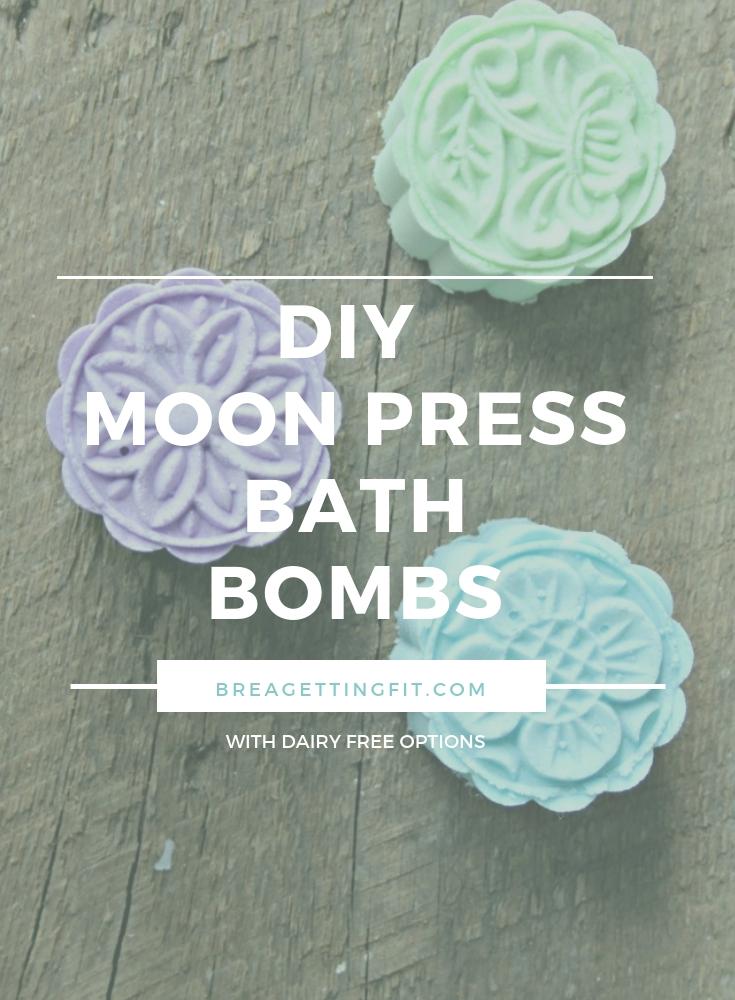 diy moon press bath bombs