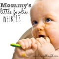 mommy's little foodie Week 13: back on the boob