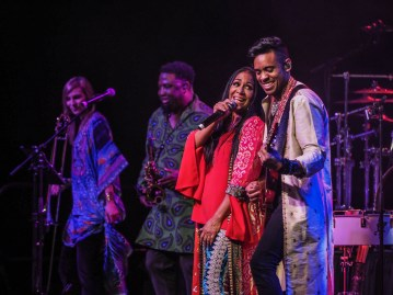 Sheila E. performs with Mychael Davison in the Iconic Soundstage at Paisley Park during Celebration 2018