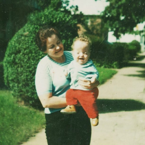 Dorsey as a child with his mother.