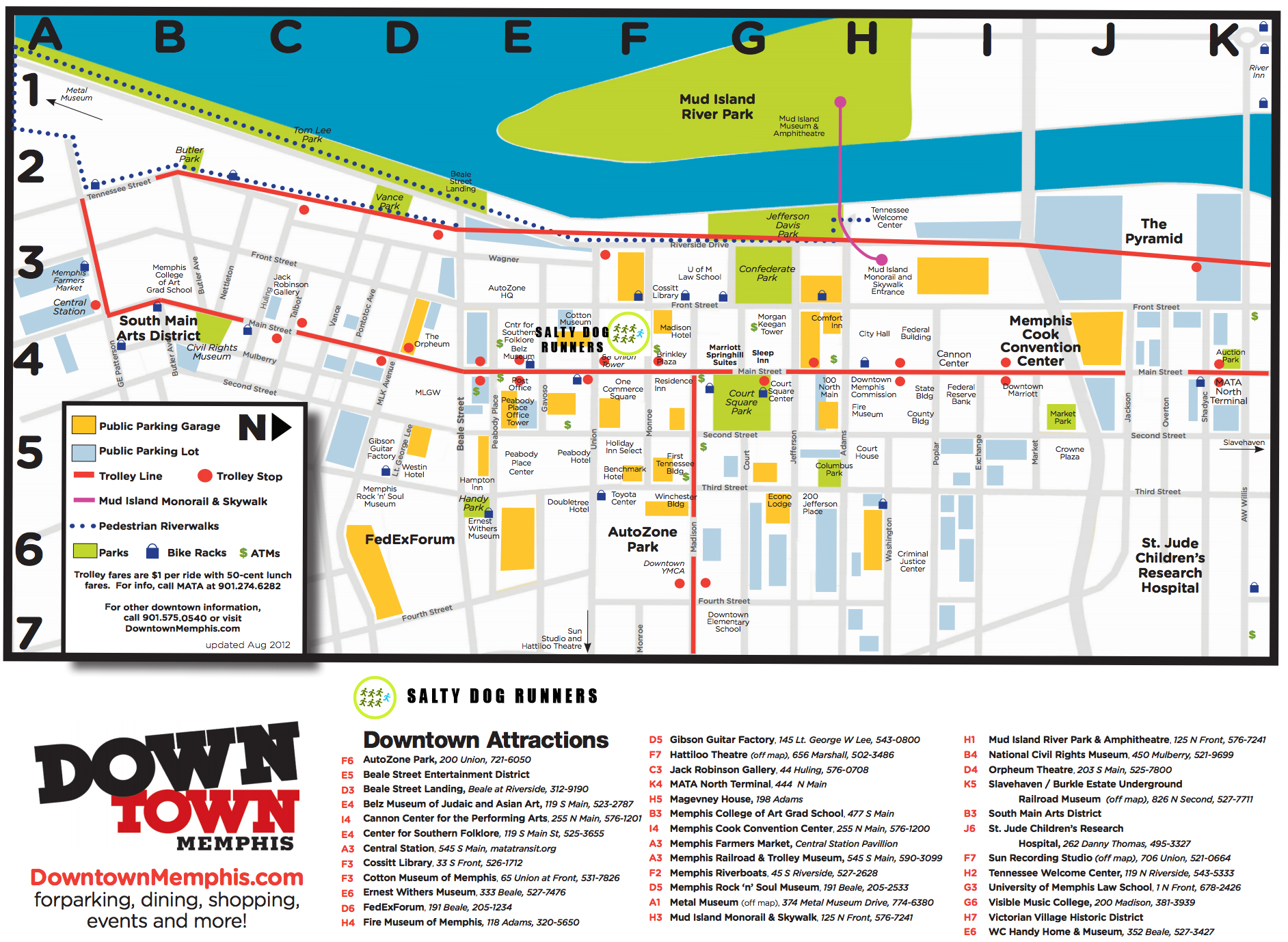 Tourist Map Of Memphis Tn