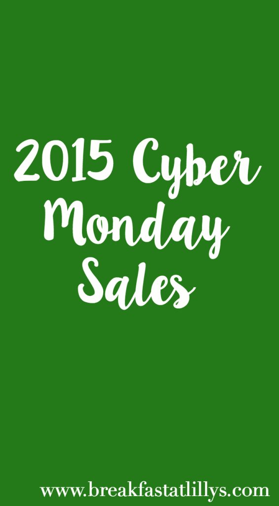 2015 Cyber Monday Sales