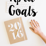 April Goals + Road to a Better Me Link-up