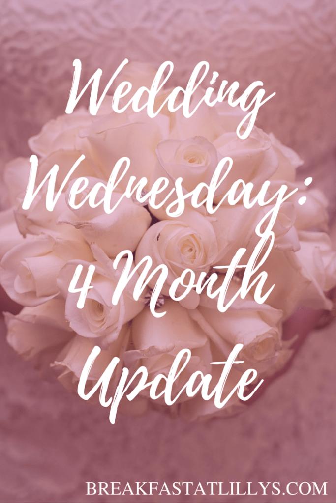 Wedding Wednesday- 4 Month Update