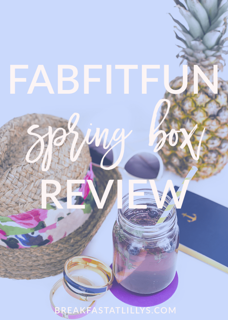 Today on Breakfast at Lilly's I'm sharing the FabFitFun spring box review. This box is filled with tons of awesome goodies.