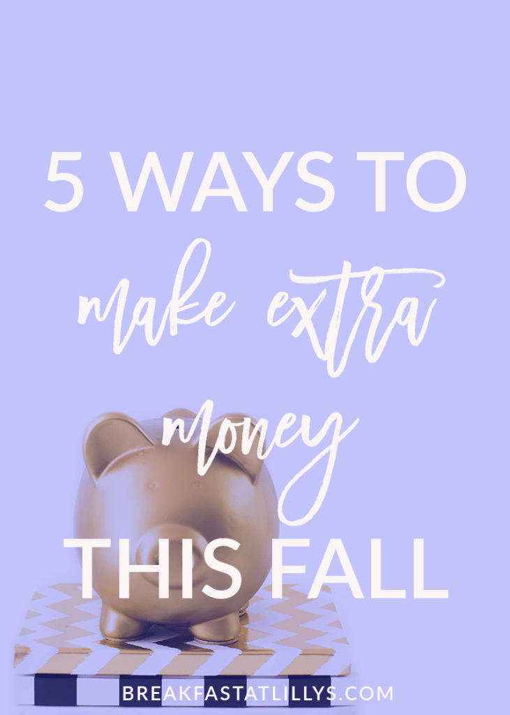 Check out these 5 ways to make money this fall on Breakfast at Lilly's.