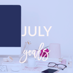 Sharing my July goals today on Breakfast at Lilly's.