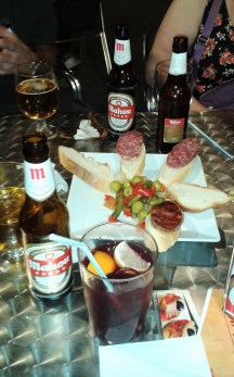 Friday night tapas in Madrid