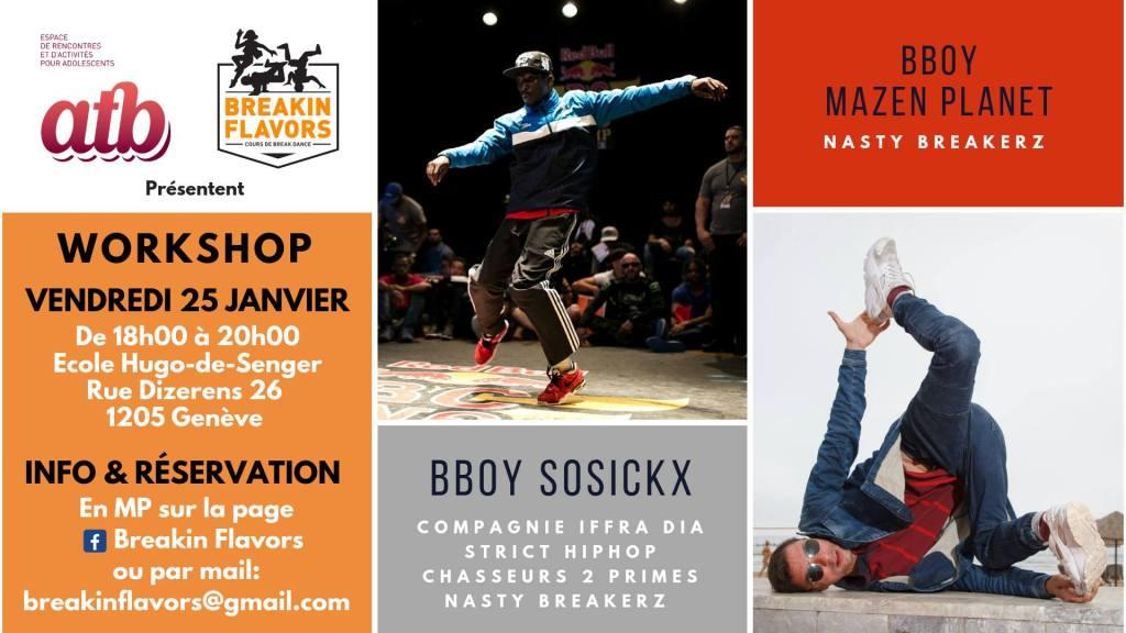 Workshop avec Bboy Sosickx & Mazen Planet