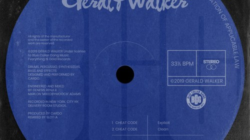 "Cover artwork for Gerald Walker - ""Cheat Code"""