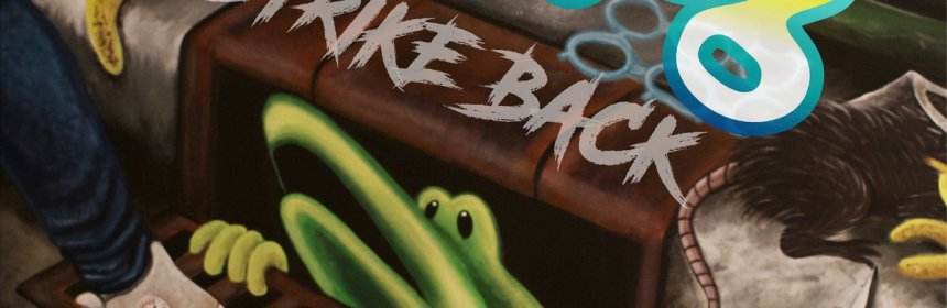 "Cover artwork for Mud Dog - ""Strike Back"""