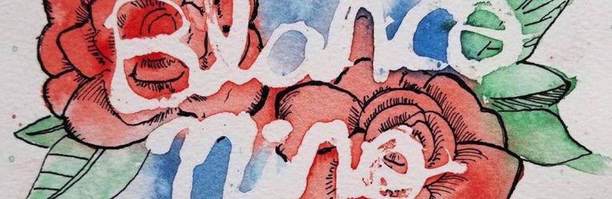 "Cover artwork for Penknife - ""Blanco Niño"""