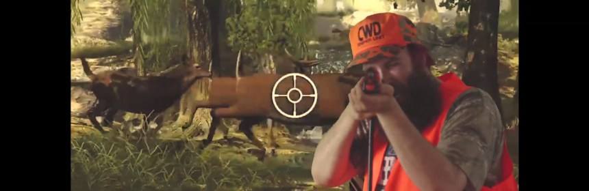 "Video still from Dad - ""Big Buck Hunter"""
