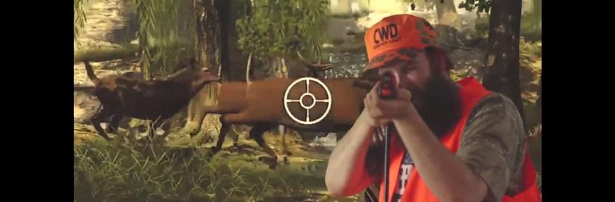 """Video still from Dad - """"Big Buck Hunter"""""""