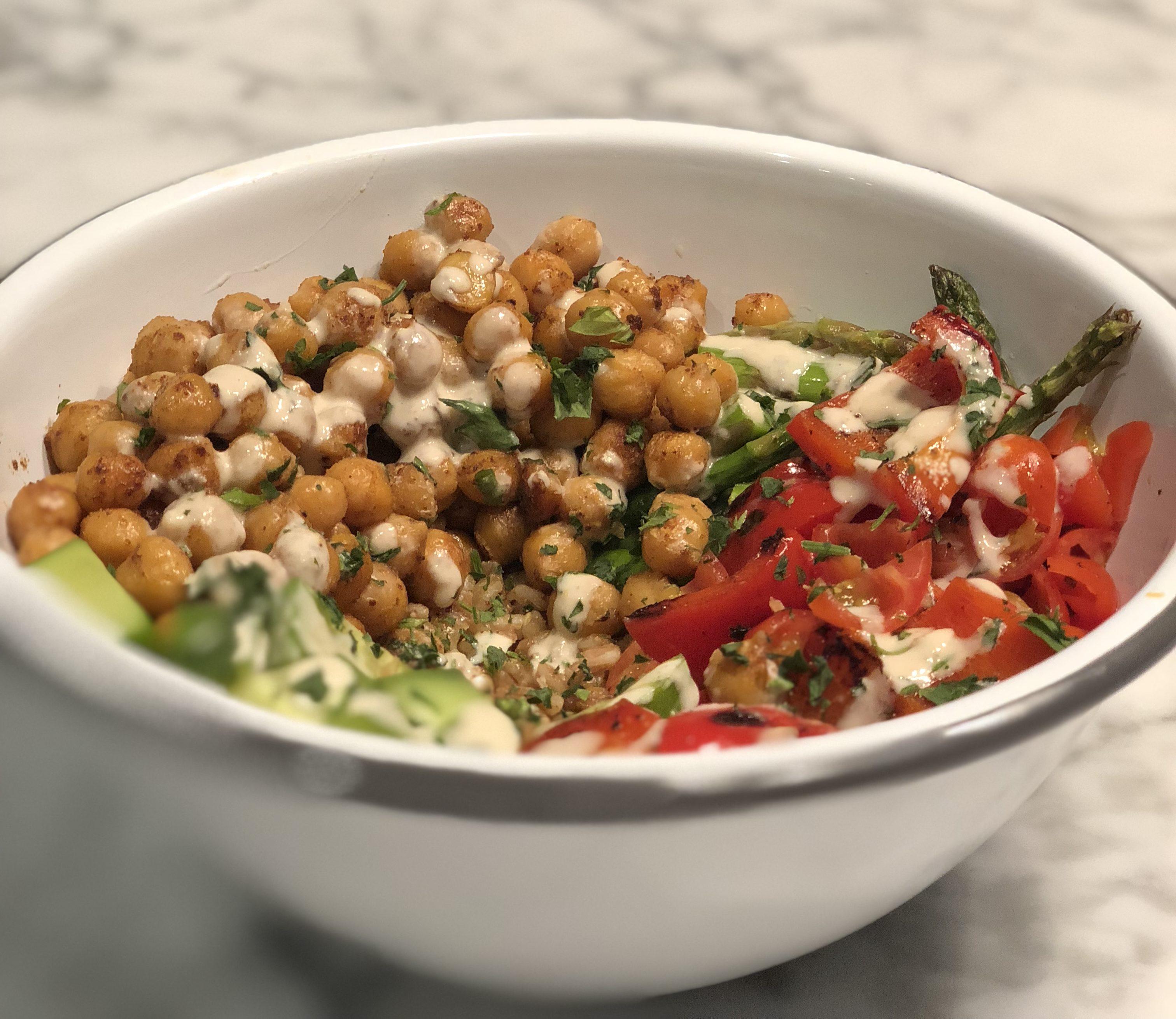 Roast Chickpea and Farro Salad