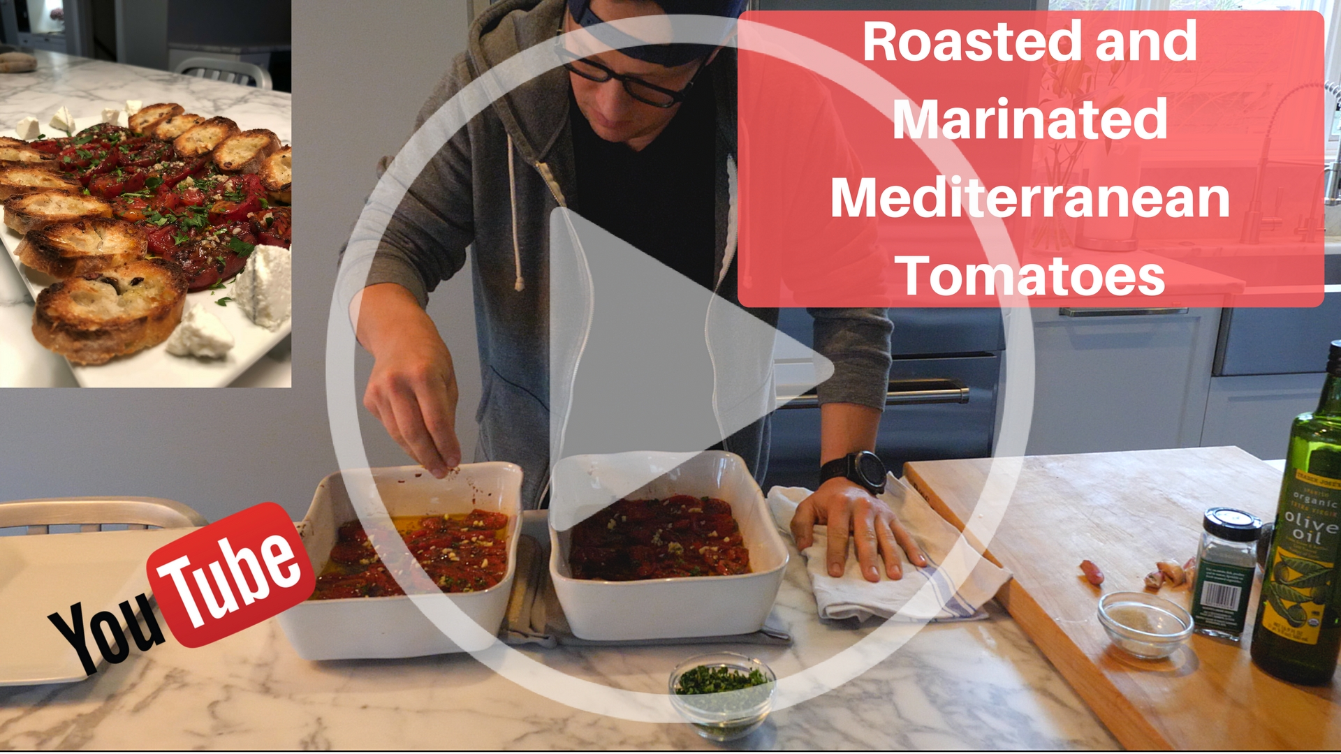 Roasted and Marinated Mediterranean Tomatoes
