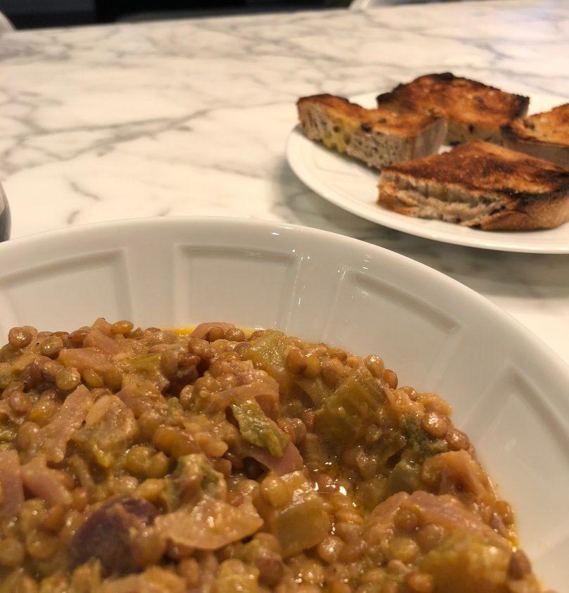 Warm French Lentils With Dijon Vinaigrette