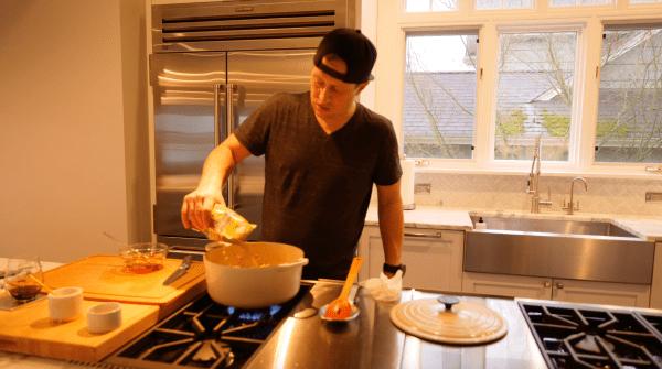 Adding Lentils Warm French Lentils