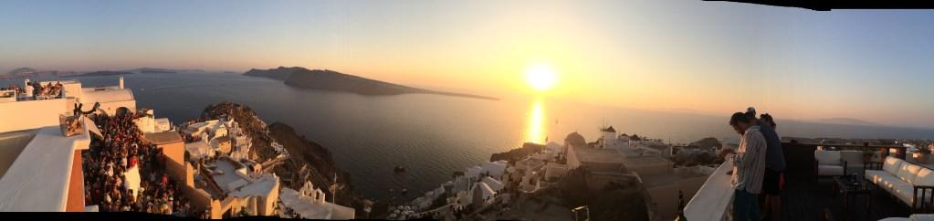 Oia Sunset In Santorini Greece