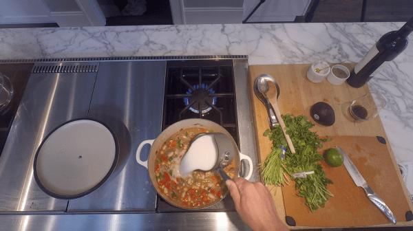 Vegetarian White Bean Chili - Nut Milk