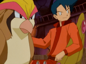 Pokemon The First Movie Corey and Pidgeot