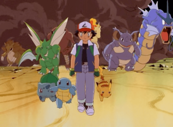 Pokemon The First Movie Ash and Pokemon Army
