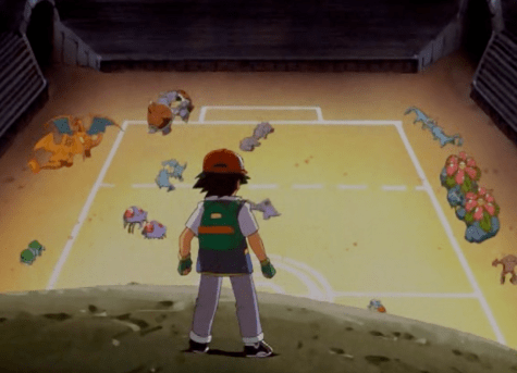 Pokemon The First Movie Ash Watches Battle