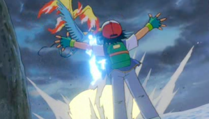 Pokemon The Movie 2000 Ash Ketchum and legendary birds