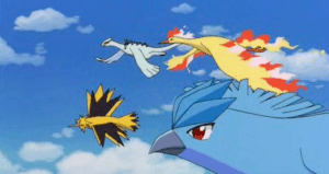 Pokemon The Movie 2000 Articuno, Zapdos and Moltres