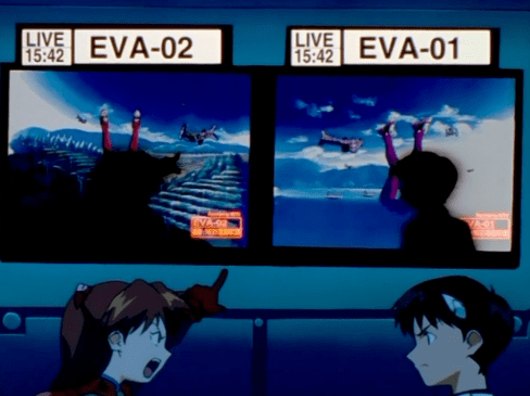 Neon Genesis Evangelion Asuka Langley Sohryu bitching at Shinji Ikari