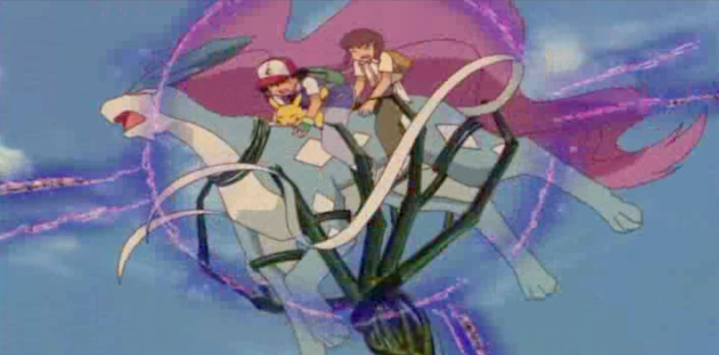 Pokemon 4Ever Ash Ketchum, Samuel and Suicune captured