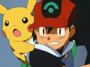 Pokemon Jirachi Wish Maker Ash Ketchum and Pikachu angry