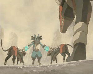 Pokemon: Lucario and the Mystery of Mew Houndoom and Lucario