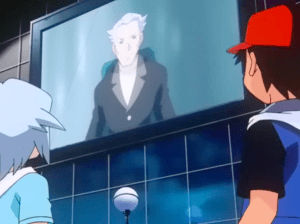 Pokemon Destiny Deoxys Professor Lund speaks to Tory and Ash Ketchum