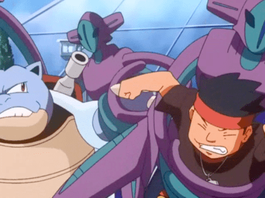 Pokemon Destiny Deoxys Sid and Blastoise captured by Deoxys clones