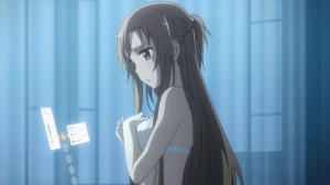Sword Art Online Asuna in bra and panties