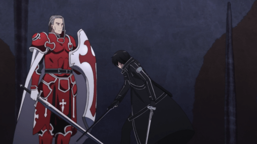 Sword Art Online crying Kirito fighting Heathcliff