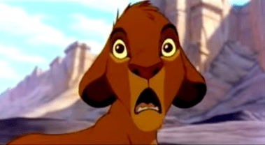 The Lion King Simba surprised