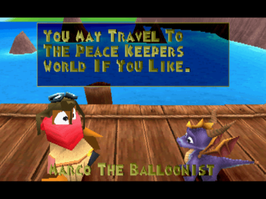 Spyro the Dragon balloonist