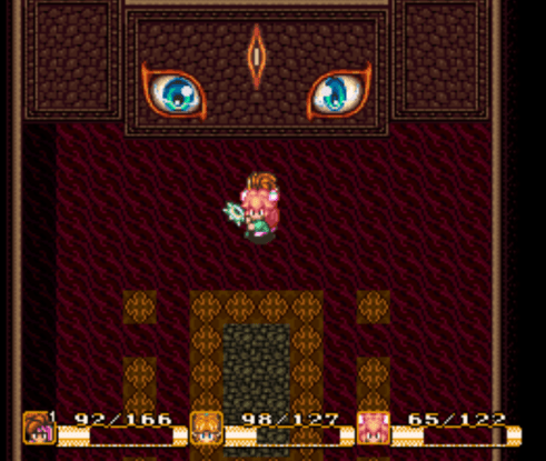 Secret of Mana Wall Face