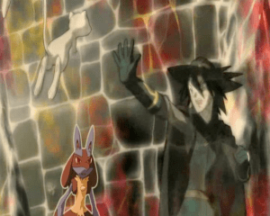 Pokemon: Lucario and the Mystery of Mew Sir Aaron gives aura to Mew