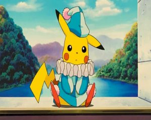 Pokemon: Lucario and the Mystery of Mew jester Pikachu