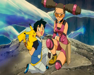 Pokemon: Lucario and the Mystery of Mew Kidd saves Ash and Pikachu